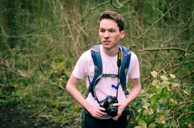 nikon afficinado in the woods