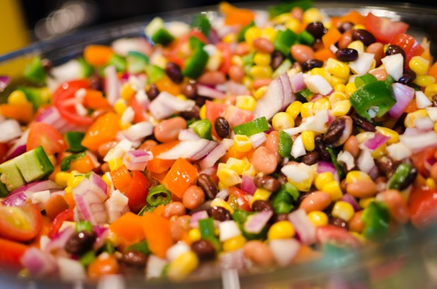close up of bean dip