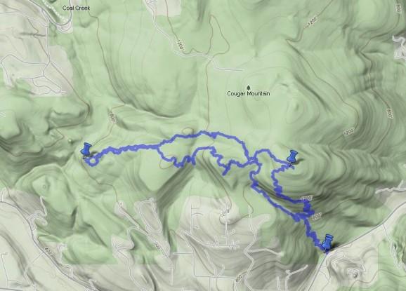 GPS track map