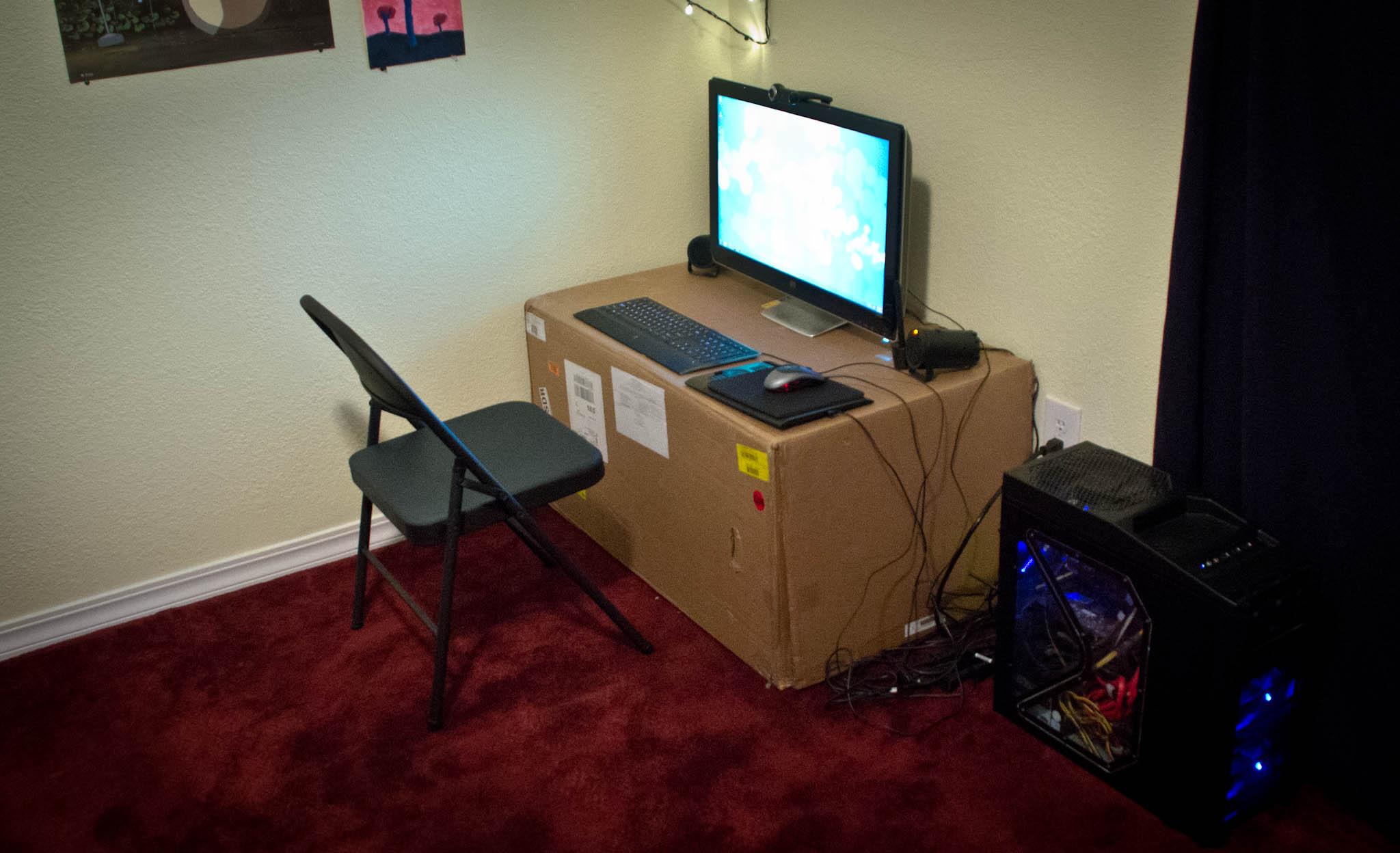 refold gallery on standing behance cardboard desk