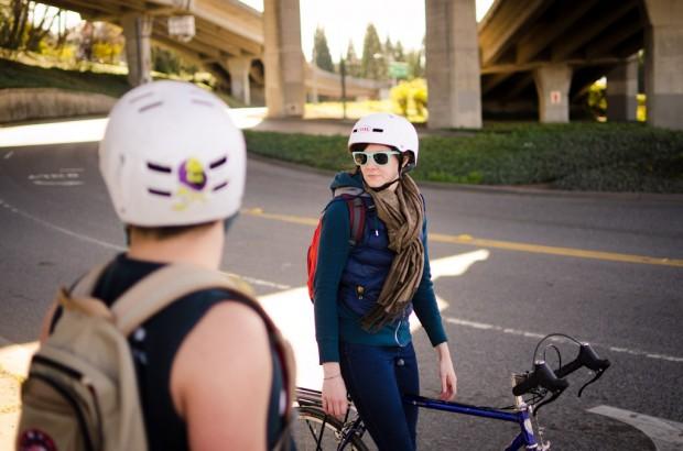 bicycle under a bridge