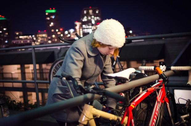 unlocking bikes at night time seattle