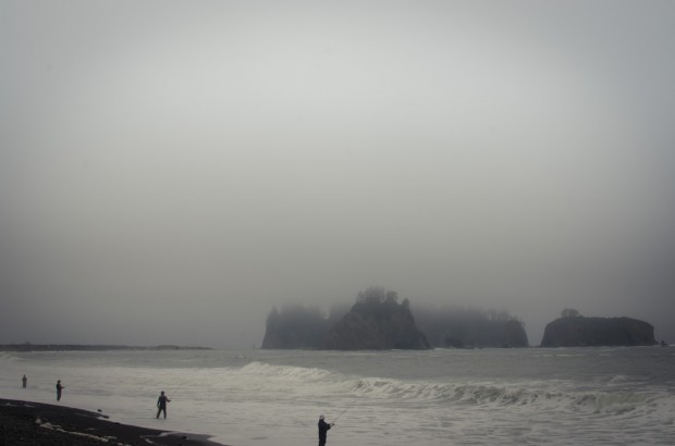 rialto beach fishermen and fisherladies
